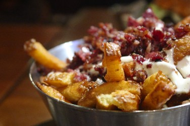 Fries topped with Bacon and Ranch
