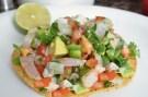 Shrimp Ceviche Tostadas!
