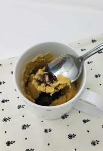Chocolate Filled Peanut Butter Mug Cake