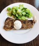 Strip Steak with Horseradish Sauce
