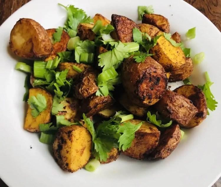 Crispy Roasted Asian Potatoes