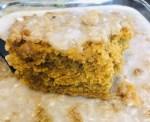 Pumpkin Crumb Cake with Glaze