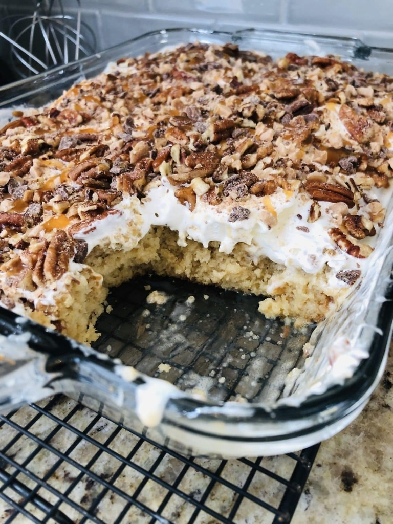 Butter Pecan Poke Cake