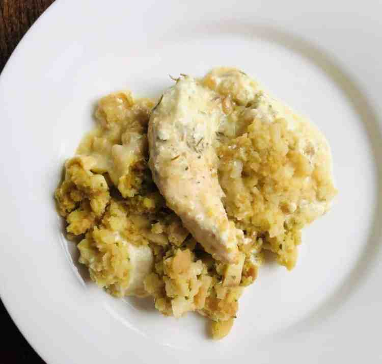 Slow Cooker Chicken and Stuffing