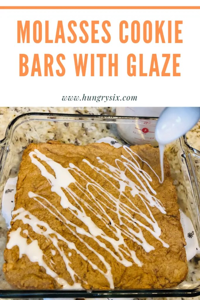 Molasses Cookie Bars with Glaze Pin