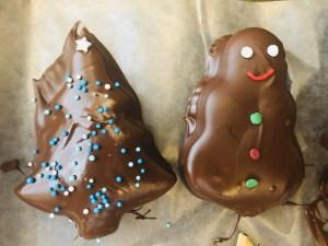 Peanut Butter & Chocolate Christmas Cutouts