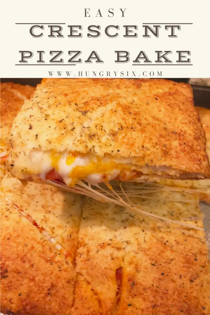 Easy Crescent Pizza Bake Pin
