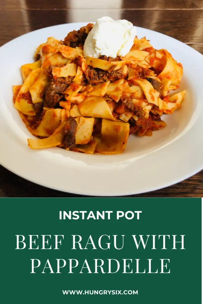 Instant Pot Beef Ragu with Pappardelle Pin