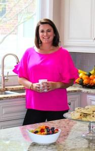 Regan Hudgins in the kitchen