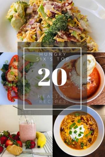 My top 20 healthy recipes