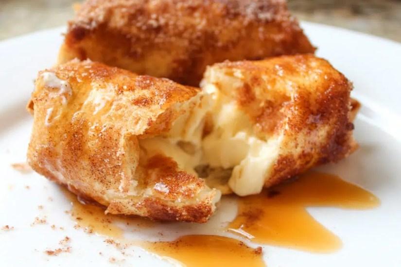 Air Fryer Cheesecake Chimichangas