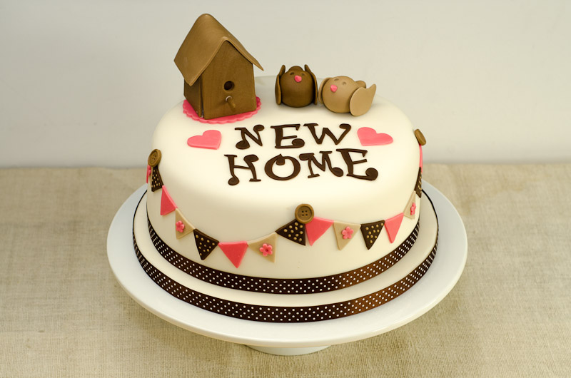 New Home Cake Hungry Squirrels