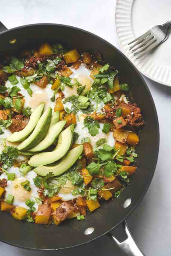 Easy Chorizo, Egg and Potato Hash