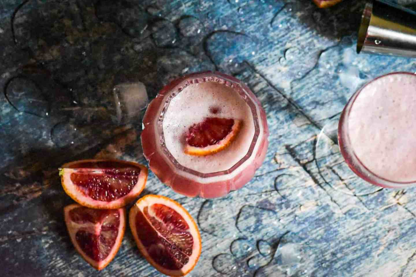 Easy Blood Orange Vodka Sour Cocktail