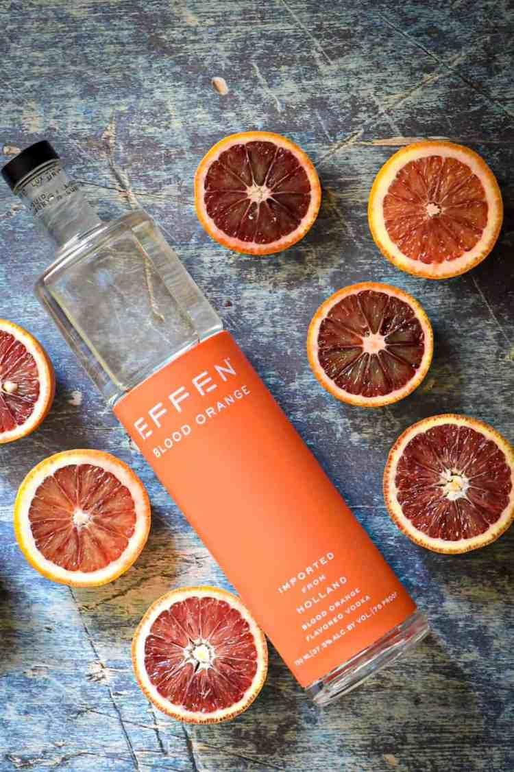 Easy Blood Orange Vodka Sour Cocktail with Effen Vodka