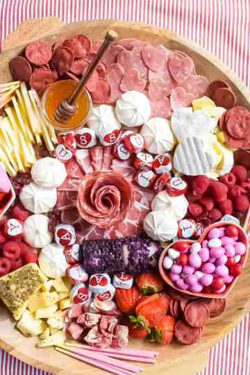 Sweet and Savory Valentine's Charcuterie Board