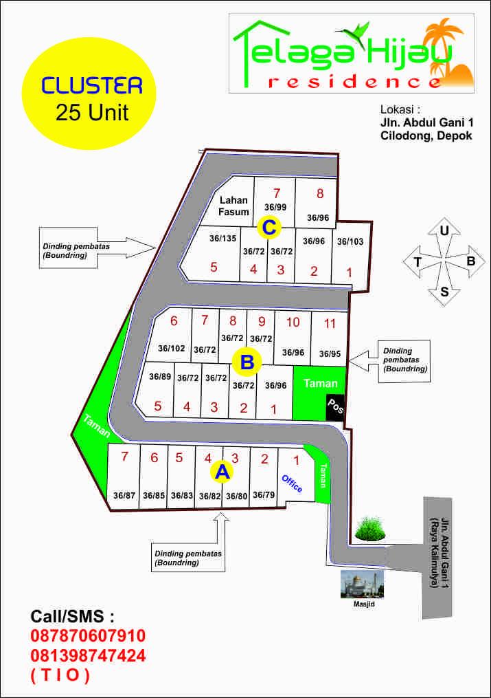 site plan  Perumahan Rumah Dijual