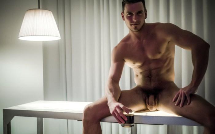 Gay porn star Paddy O'Brian naked