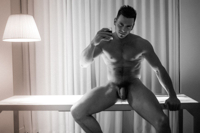 Paddy O'Brian showing his thick cock