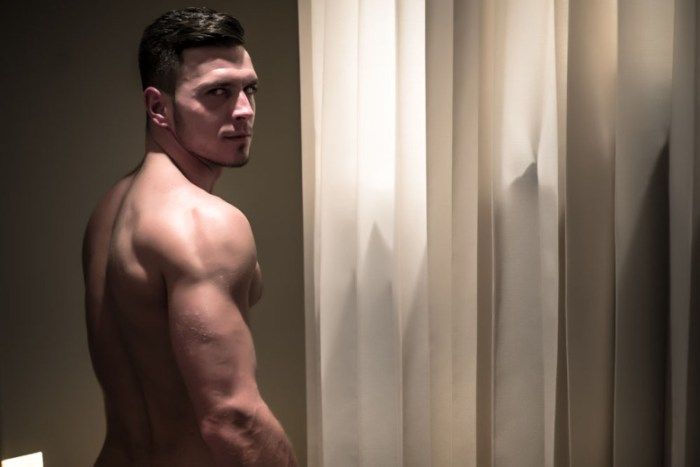 Paddy O'Brian in the shower