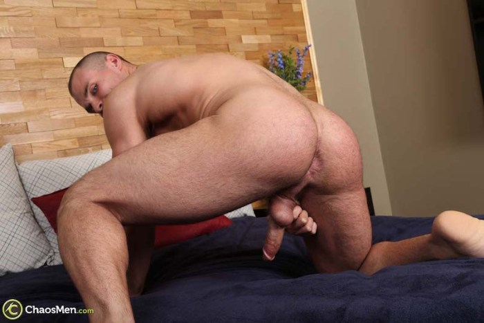Gay muscle jock showing his ass