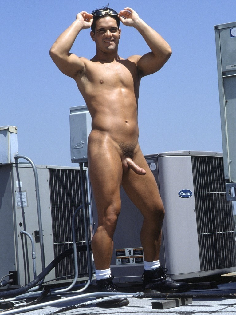 Naked hung jock hunk Joshua Sterling