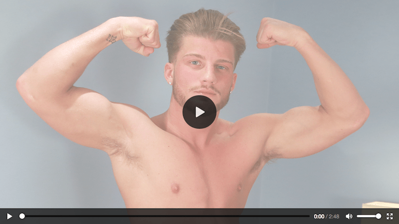 Straight hunk Justin McGregor wanking three loads out on video