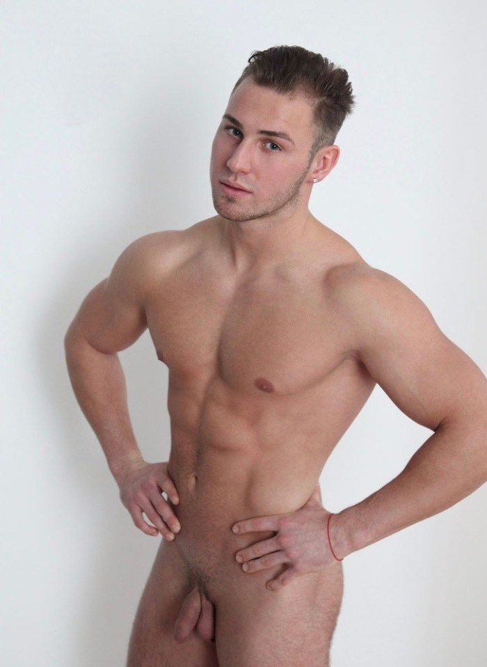 Nude male photography with an uncut jock showing his cock