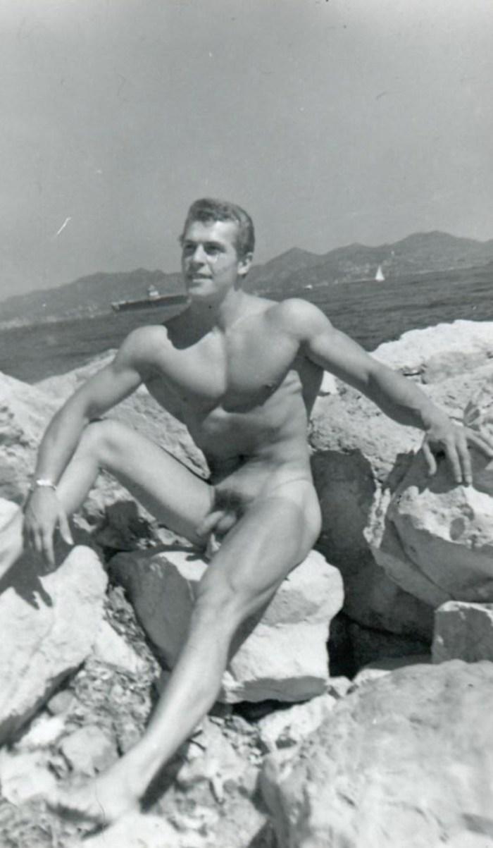 Helmut Riedmeier naked outside in the sun