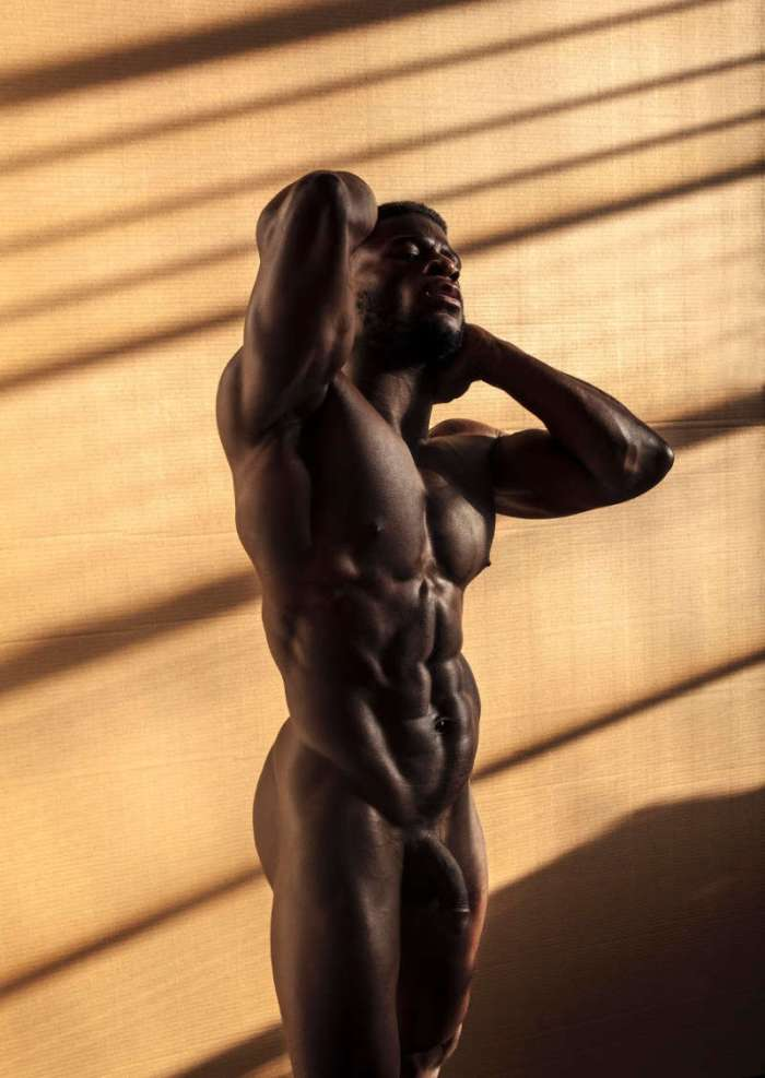 hung male model Daniel Shoneye naked