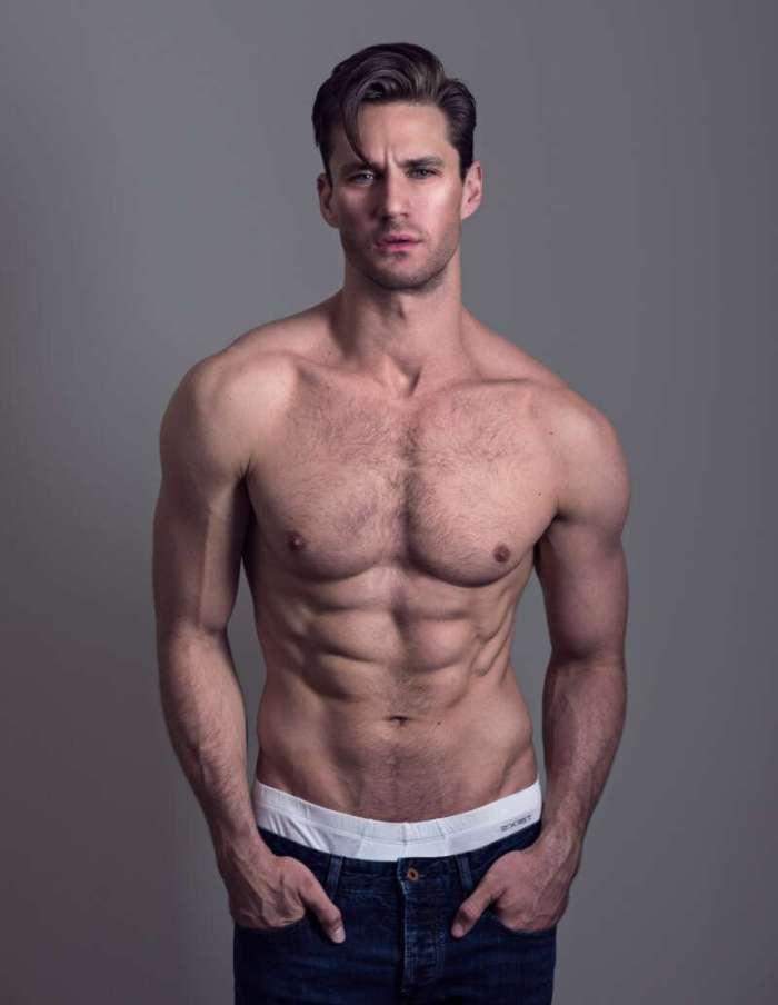 sexy male model Nicholas Cunningham