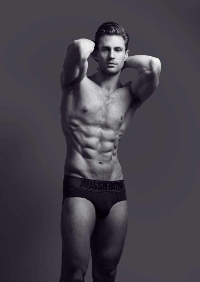 Nicholas Cunningham in black underwear