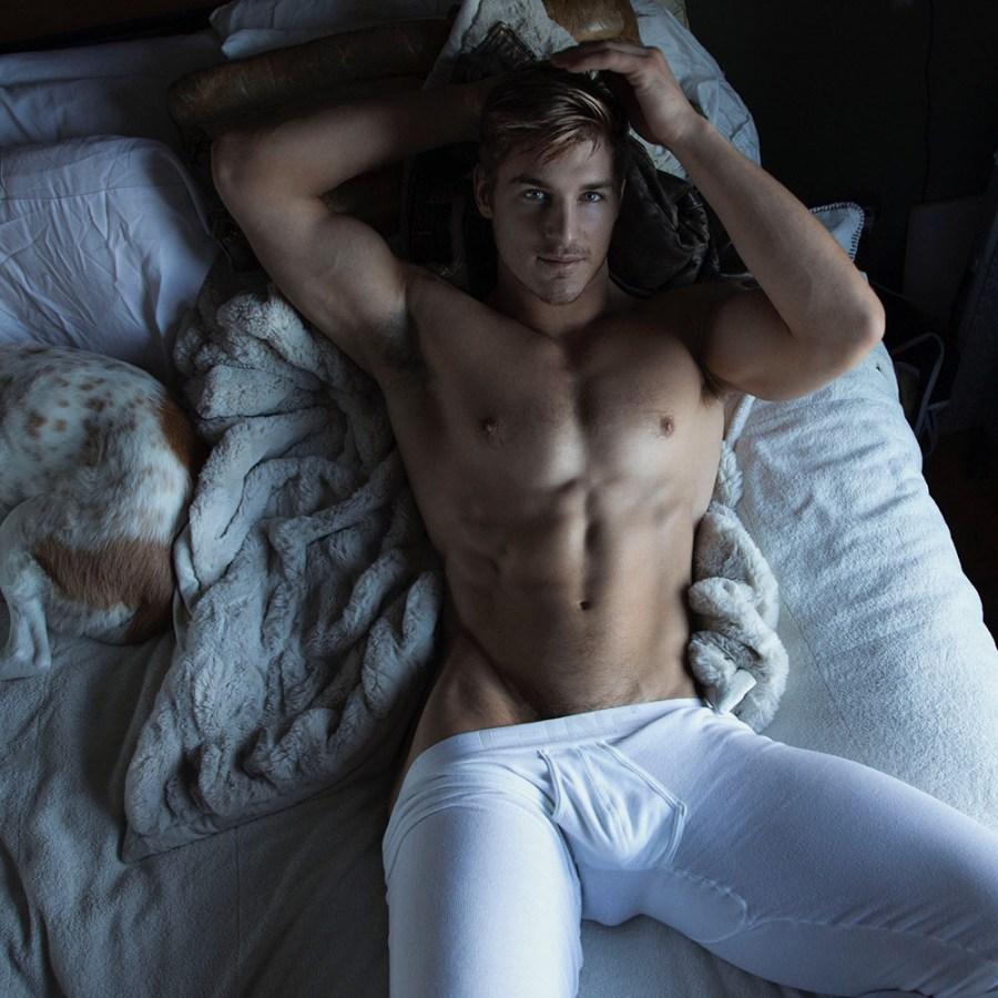 Muscled jock model Ripp Baker for Rick Day