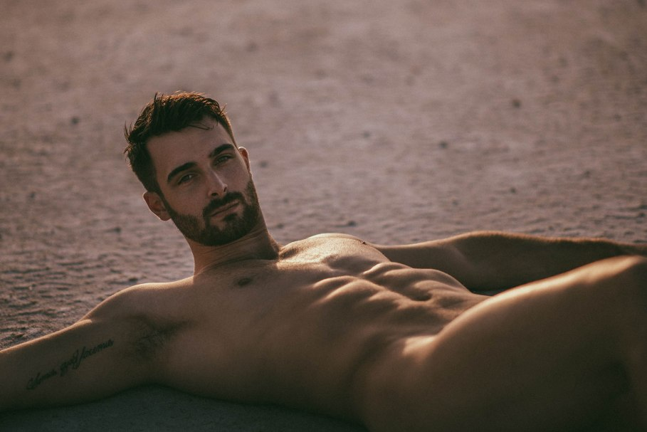 Bearded male model Vivien Mistral