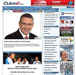 Presidente Funes visita Cuba