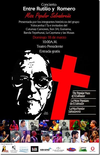 afiche misa popular s concierto
