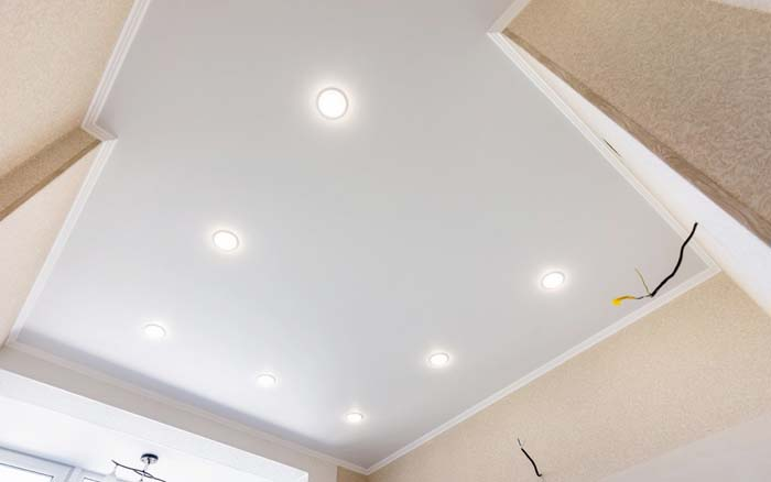 different types of ceiling lights