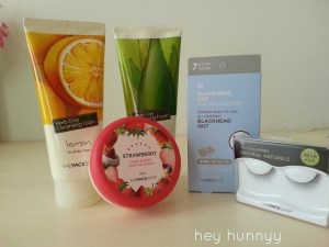 cleansers, cream, pore strips and fake eyelashes