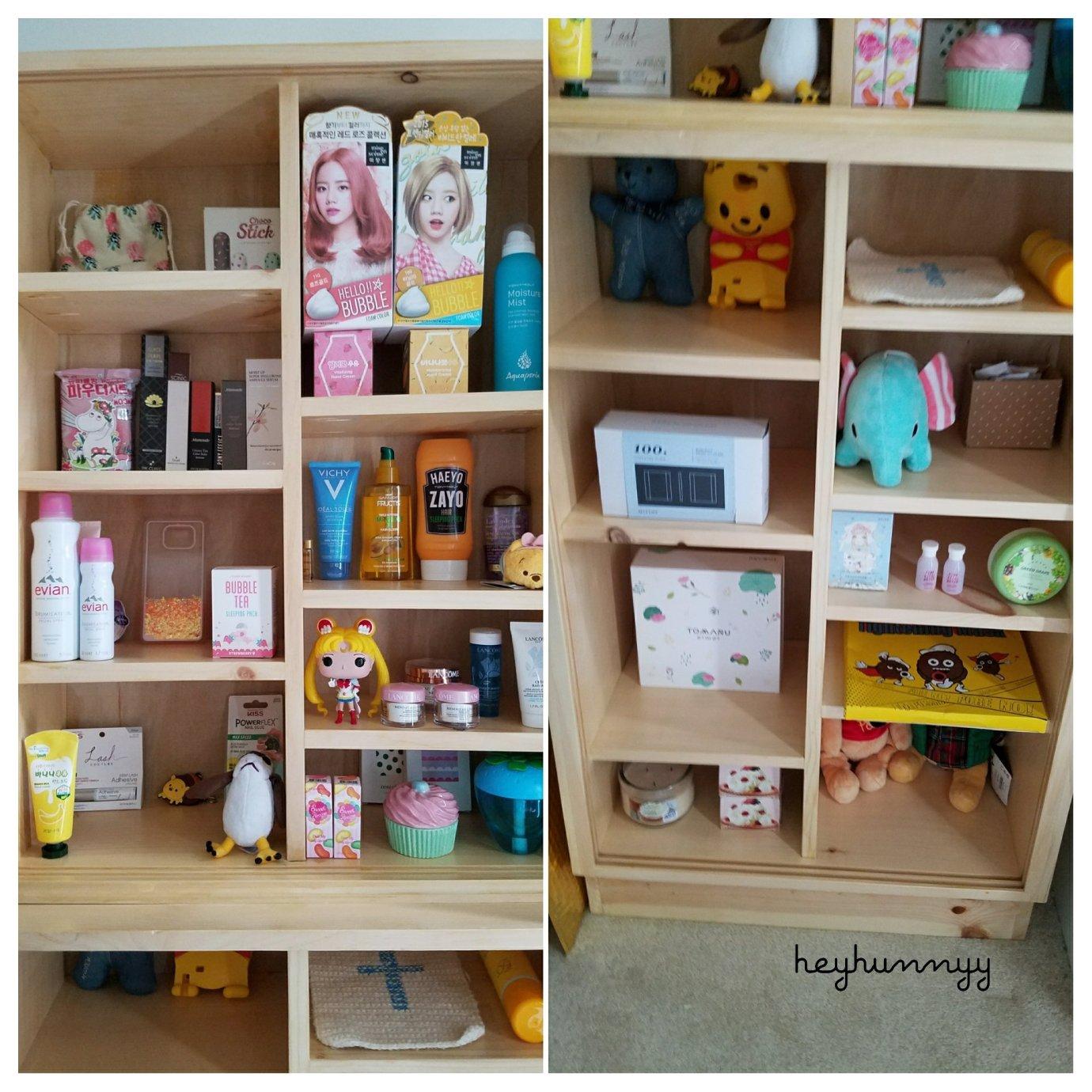 ::MAKEUP SHELF:: Custom Built Makeup Shelf! heyhunnyy