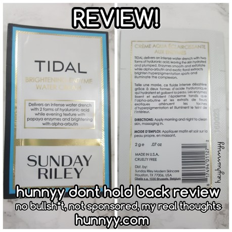 ::REVIEW:: Sunday Riley - Tidal Brightening Enzyme Water Cream