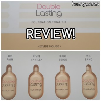 ::REVIEW:: Etude House - Double Lasting Foundation Trial Kit!