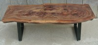 Custom Claro Walnut Coffee Table | Salvaging and ...