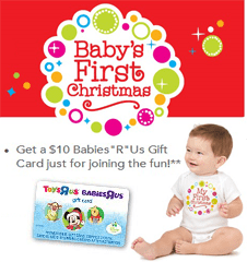 Babies R Us Babys First Christmas Event FREE $10 BabiesRUs Gift Card to Parents with Babies Born in 2013