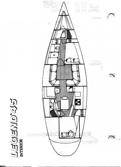 , Legend 45 hull X- section