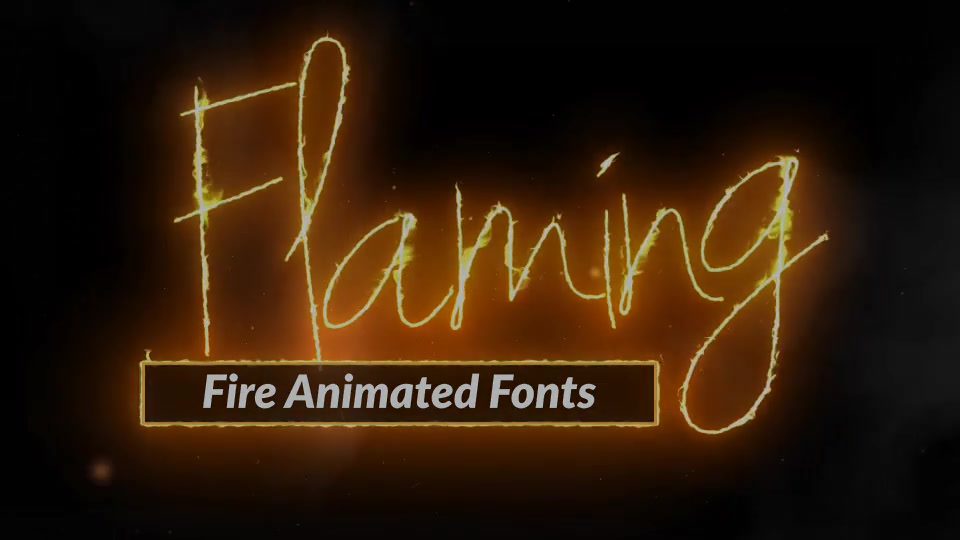 Download Fire Text Flaming Animated Font Pack with Tool Videohive ...