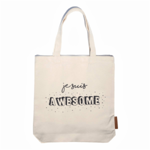 je suis awesome 100% cotton tote hunter and the fox