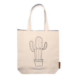 cactus 100% cotton tote hunter and the fox