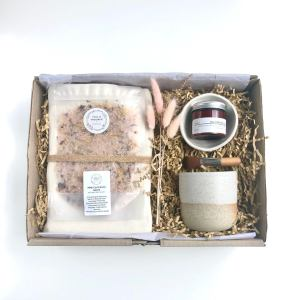 Our Pamper gift box has been carefully curated with quality products from local small business. Each item has been selected and sourced by myself and is of the highest quality products making them the perfect gift for someone special.