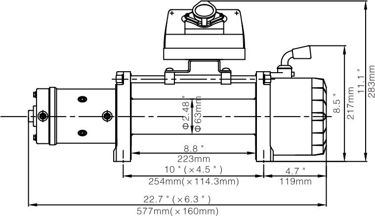 Wyciągarka Escape EVO 9500 lbs [4309 kg] EWX-QF 80:1