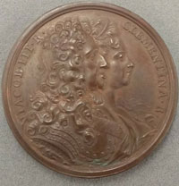 Medal depicting James and Clementina.